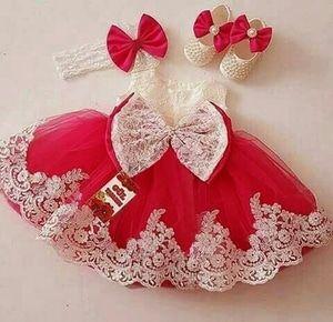 Baju Dress Princess Anak Perempuan Bahan Brukat Kombinasi Tile