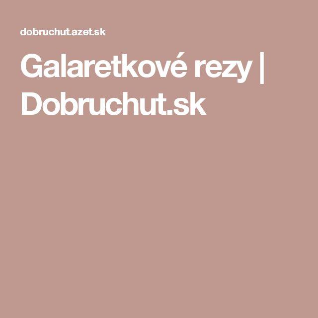 Galaretkové rezy | Dobruchut.sk