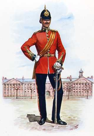 Officer Of The Royal Marines Light Infantry 1880