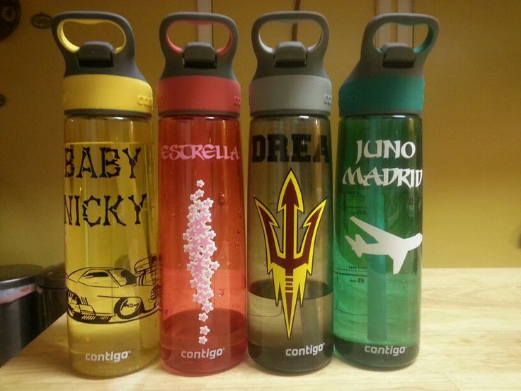 Last minute gift! Personalize water bottle with a window decal from the mall.