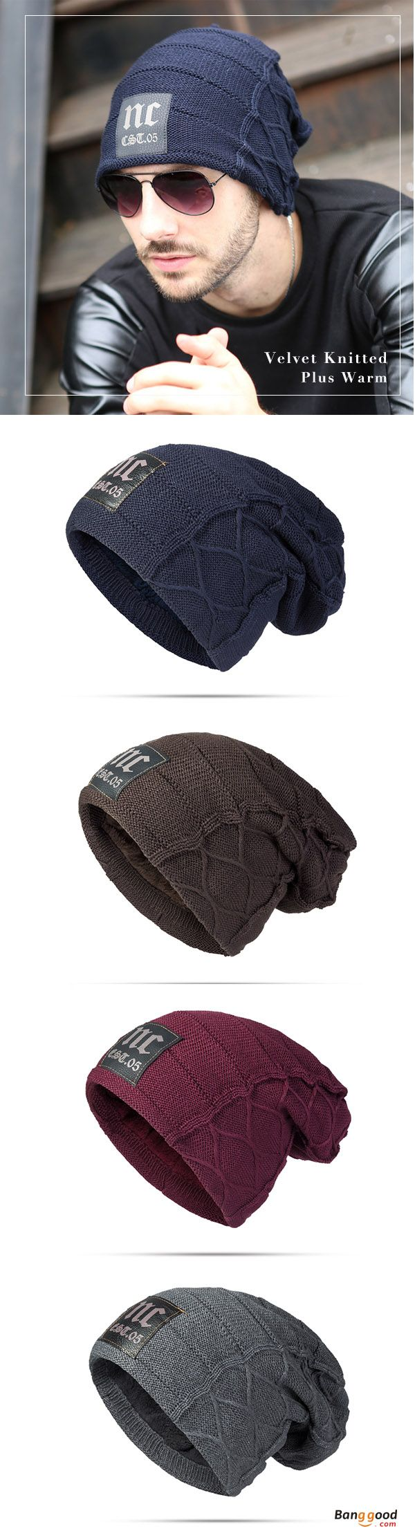 US$8.99+Free shipping. Mens Cap, Plus, Velvet, Winter, Warm, Knitted Hat, Casual, Letter, Solid, Skullies, Beanie Hat. Color: Navy, Khaki, Deep Red, Black, Coffee, Dark Grey. Shop now~