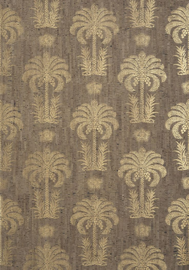 Palm springs cork design tree pattern beach trees for Tree wallpaper bedroom