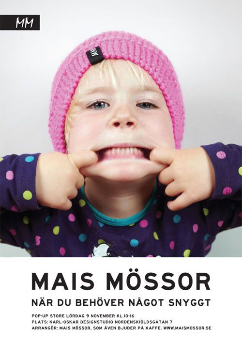 When you need something beautiful... Pop-up store with knitted caps from Mais Mössor (swedish for Mai's Caps) www.maismossor.se