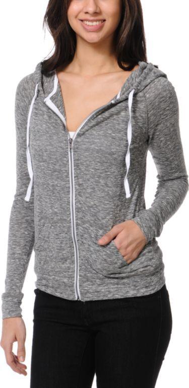 ZINE Zine Jersey Heather Black Zip Up Hoodie $29.95 Buy 1 Get 1 50% off
