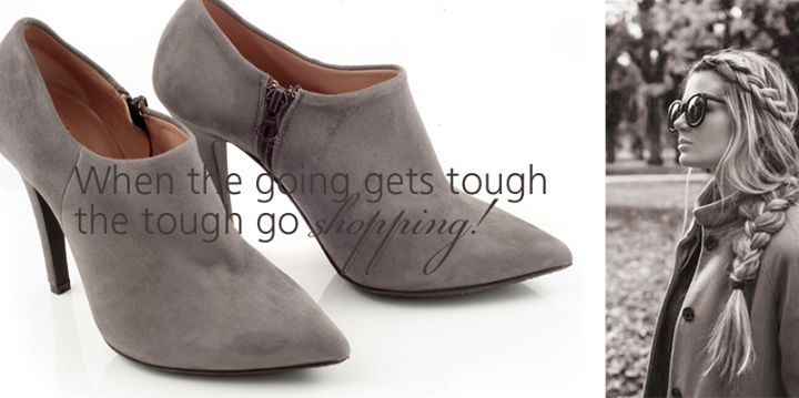 """""""Elephant"""" Grey Ankle Boots On Sale by Chaniotakis!"""