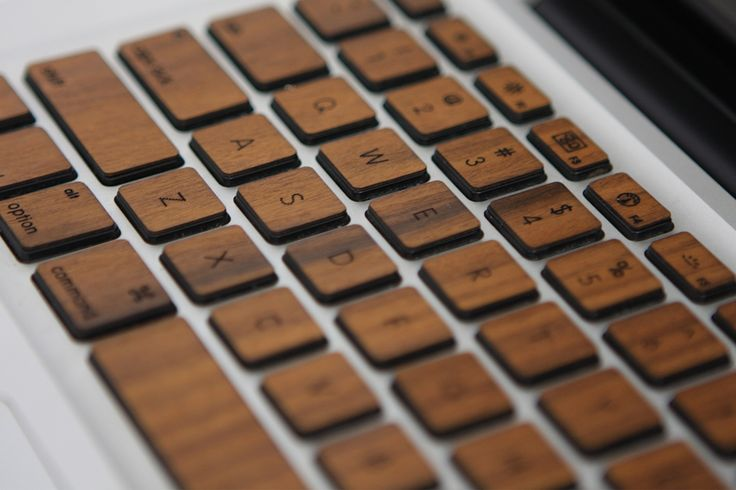 Get a free custom engraving on the spacebar for a limited time only .Wood keys for the Macbook Air, Pro, and Retina of all sizes.
