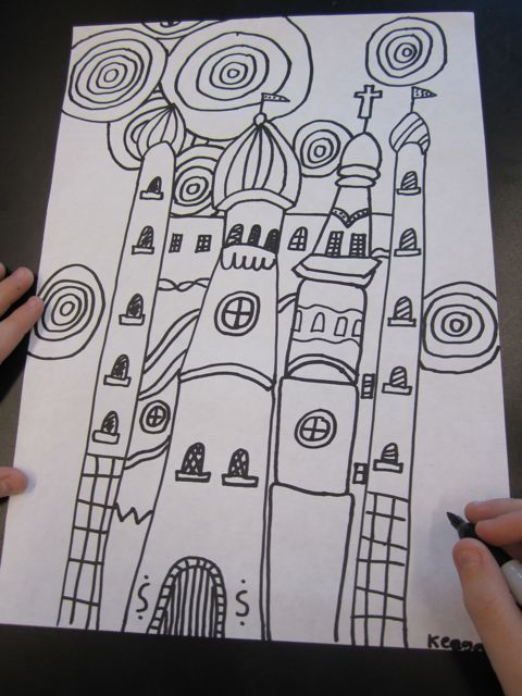 Georgetown Elementary Art Blog » Blog Archive » Third Grade Architecture Study