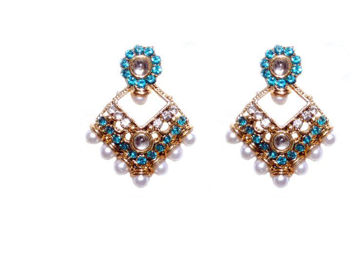 hot fashion traditional blue drop earring