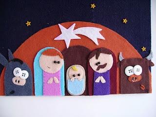 presepe feltro nativity felt