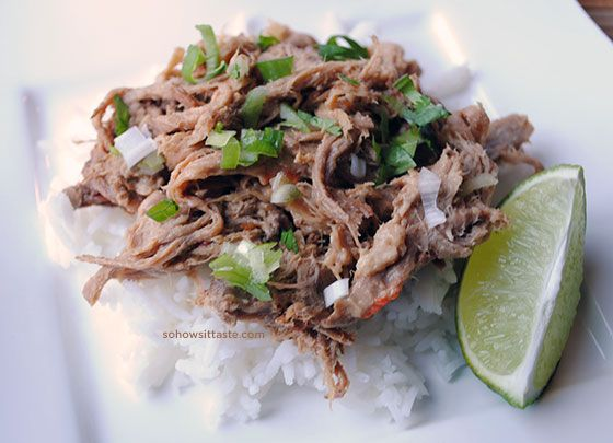 Slow Cooker Thai-Style Peanut Pork by So, How's It Taste?