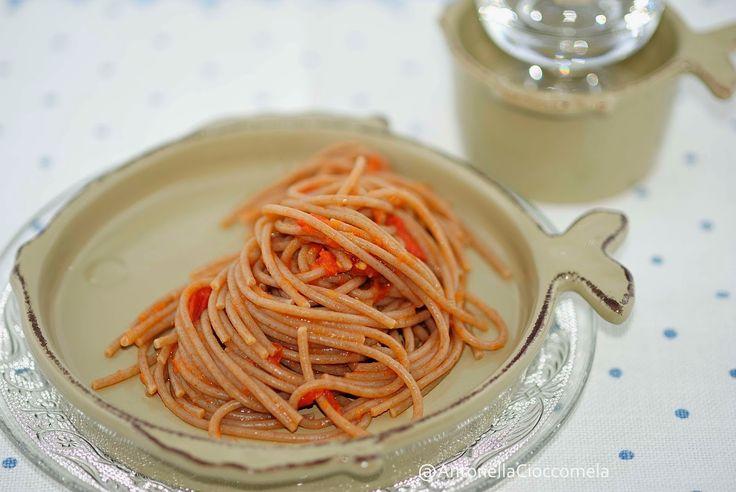 Spaghetti di farro con crema di pomodoro