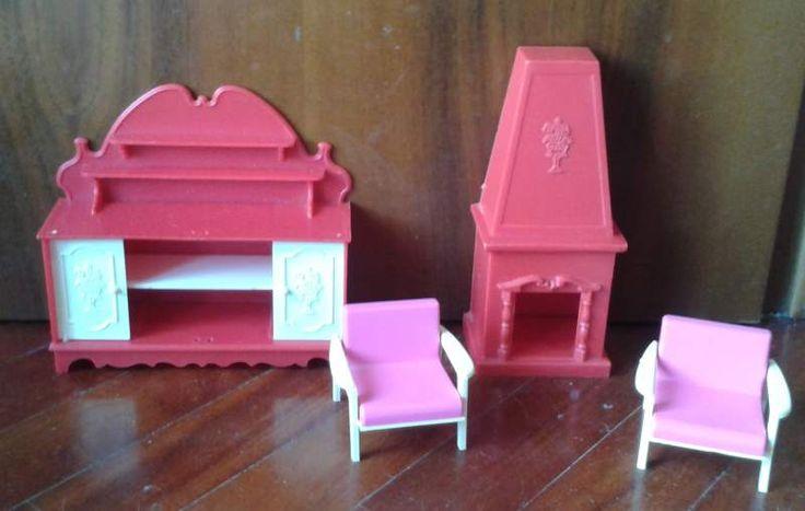 Lotto di mobili per bambole vintage Galletti e Frade