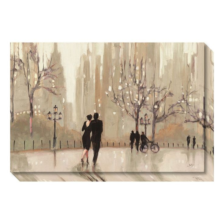 An Evening Out Neutral Canvas Wall Art, Multicolor
