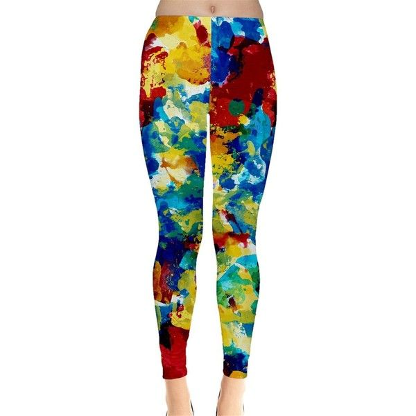 SP FASHION Womens Red Yellow and Blue Mixing Color Leggings ($22) ❤ liked on Polyvore featuring pants, leggings, yellow pants, blue leggings, blue trousers, yellow trousers and legging pants