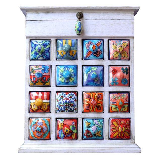 Kommoden - Apothekerschränkchen Schubladenschränkchen Deckel - ein Designerstück von Shabbyflair-Decorations bei DaWanda