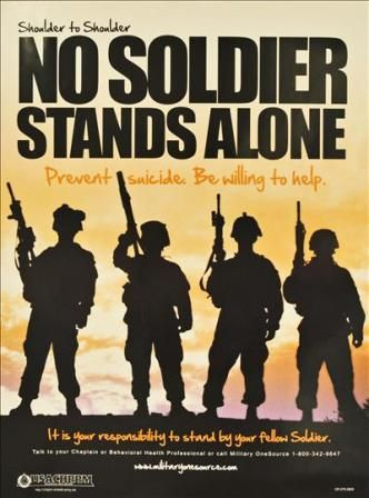 "The theme for the Army's 2012 suicide prevention stand down is ""Shoulder to Shoulder, We Stand Up for Life."" The Army is scheduled to begin the stand down September 27, 2012."
