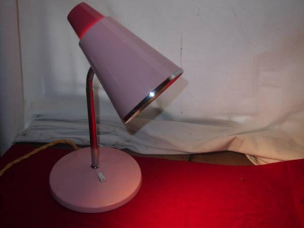 昭和の懐かしい 電気スタンド ナショナル デスクスタンド レトロ ピンク_画像1
