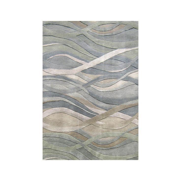 Alliyah Handmade Grey Green New Zealand Blend Wool Rug 9