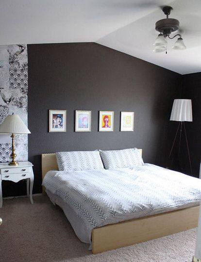 Perfectly Gray Rooms From LA House Tours  Dark Grey BedroomsGrey Bedroom  WallsDark. 19 best Grey Walls Bedroom Design images on Pinterest