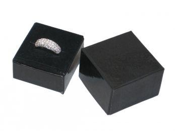 Glossy Black Single Ring Hat Box    Price: $25.95/box of 100