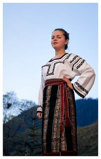 Girl wearing a traditional folk costume by spatras, via Flickr