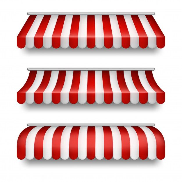 Download Realistic Set Of Striped Awnings Isolated On Background Clipart With Red And White Tents For Free Clip Art Fabric Awning Cardboard Crafts