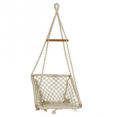 SQUARE ROPE HAMMOCK CHAIR