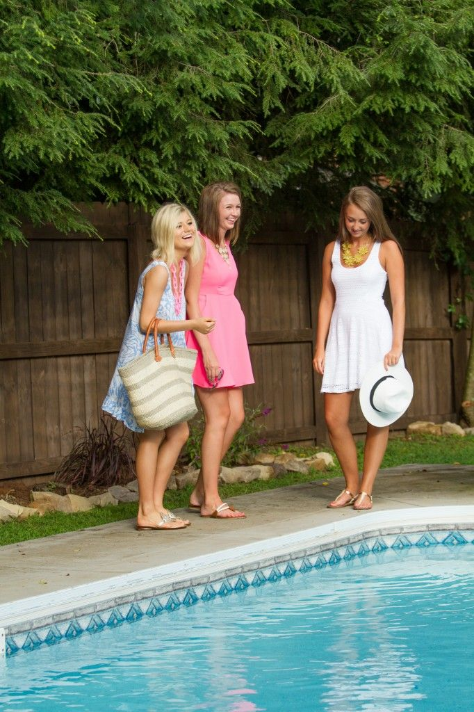 Bright Summer Dresses // Backyard Party Style