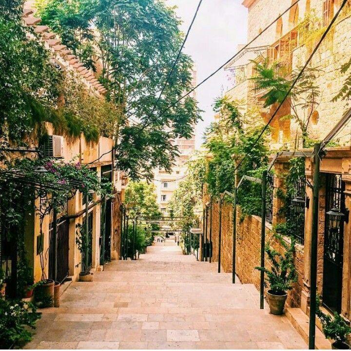 Walking through Gemmayze, Beirut.