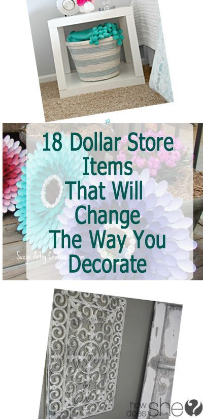 18 Dollar Store Items That Will Change the Way You Decorate - http://centophobe.com/18-dollar-store-items-that-will-change-the-way-you-decorate/