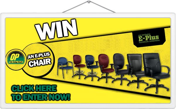 FREE E-Plus #OfficeFurniture Chair? Why not :)  Submit your name to the draw by the July 31st, 2014 deadline for a chance to win!