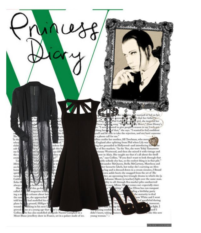 """""""Chris Pohl"""" by the-rippers-daughter ❤ liked on Polyvore featuring Rick Owens, Oasis, Christian Louboutin, Tarina Tarantino and Lauren G Adams"""