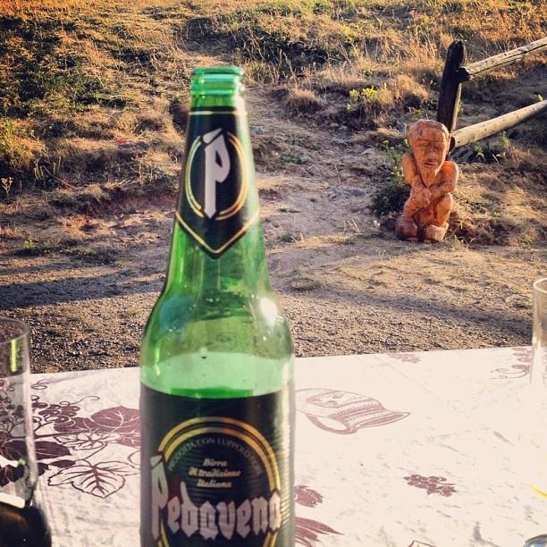 Strange creature looking on while we're having a beer #Pedavena - @arroseuse- #webstagram