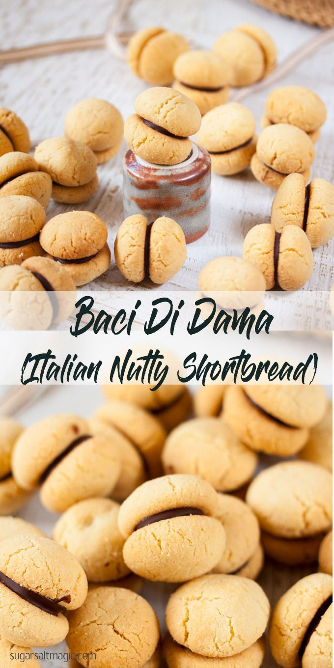 Baci di Dama by Sugar Salt Magic. Cute, little Italian cookies, made with almond meal and filled with chocolate. via @sugarsaltmagic