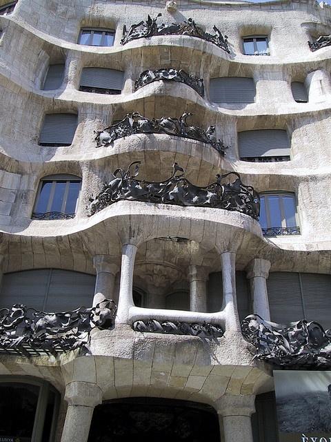 Gaudi's Casa Mila in Barcelona, Spain