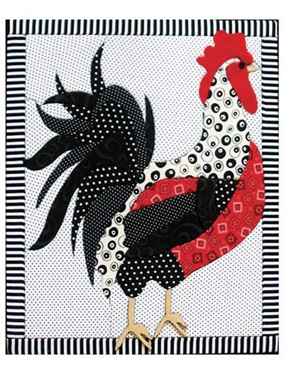 "Create a beautiful wall hanging without sewing a stitch!   Make this adorable quilted rooster without sewing anything! Just remove the paper pattern from the top of the quilt board, pin to the fabric of your choice, cut, center, and place it. With a seam-ripper or other narrow tool, tuck the raw edges of fabric into the grooves, and you have a masterpiece! Made in the USA; fabric not included. Finished project is 11"" x 13 1/2"".  No-sew quilt board includes:  Design precut into the board…"