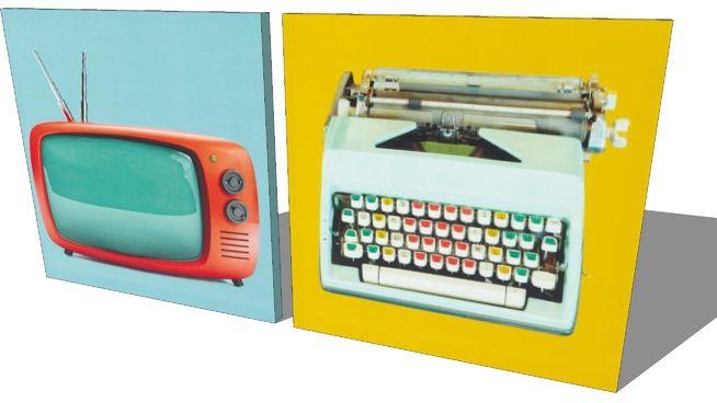CATALOGUE 2014 Fun et colorées, ces deux toiles déco apporteront une note délicieusement vintage à votre pièce. L'un jaune, l'autre bleu, ces tableaux déco remettent le style rétro au goût du jour. A disposer à votre guise, cette déco murale donnera un bon coup de peps à votre intérieur urbain. Dans le même style, découvrez aussi la toile multicolore TV Mires. Dimensions (cm) : H 40 x L 40 x P 2 Poids : 1 Kg #138438 #Agence_3D_Frédéric_Tabary #amarillo #Azul #bleu #Blue #cuadro #door ...
