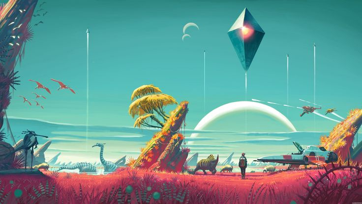 no mans sky ps4 game - lovely colour palette