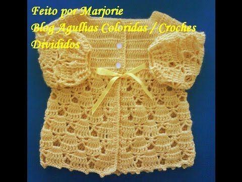 How to crochet jacket babies - YouTube