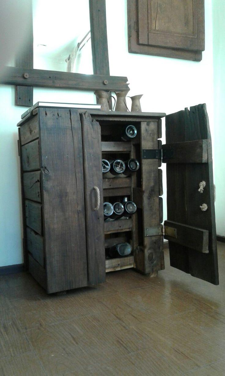 Pallets reciclado con maderas de bins