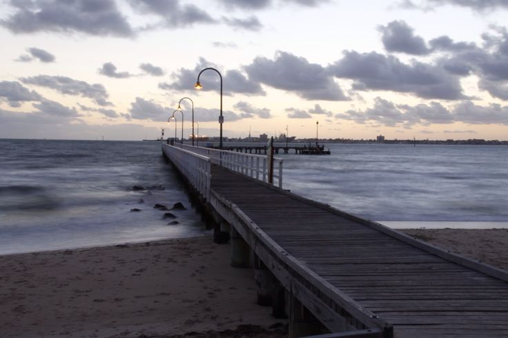 When the ocean meets the street. Port Melbourne