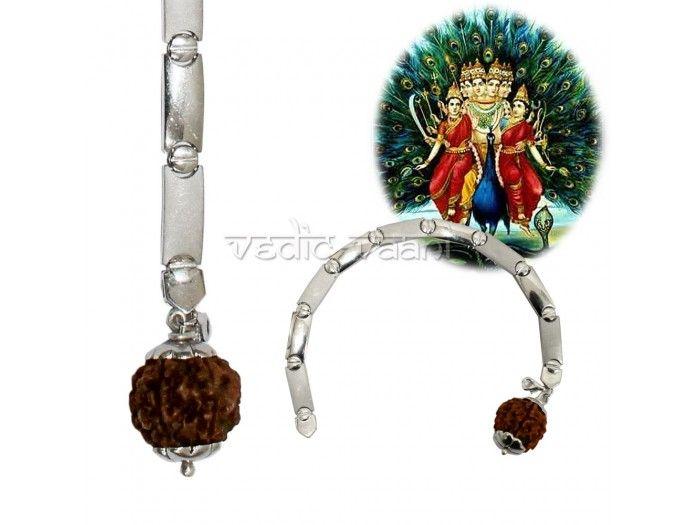 6 Mukhi Rudraksha Kartikeya Bracelet buy online from India