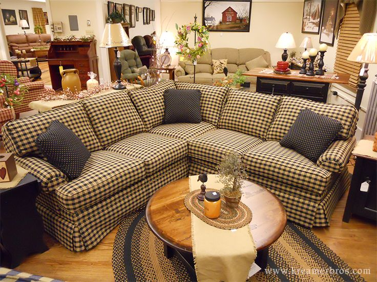 Country Sectional Sofa, A Country Furniture Favorite In South Central  Pennsylvania. Primitive Living RoomCountry ...