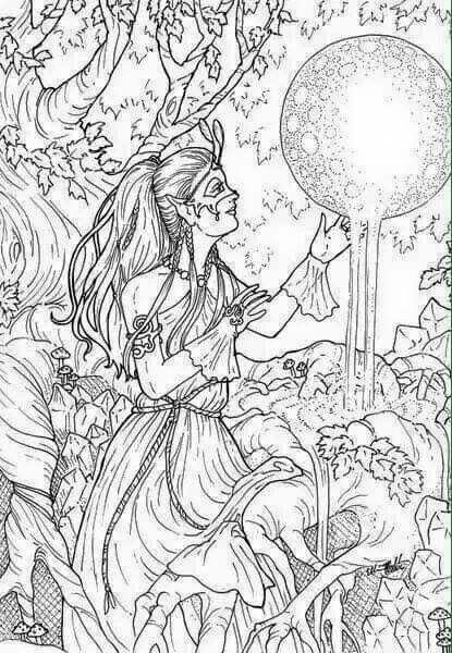 Lady coloring page Coloring pages