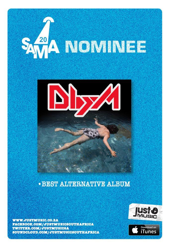 #deathbymisadventure nominated in the category #BestAlternativeAlbum #SAMA20