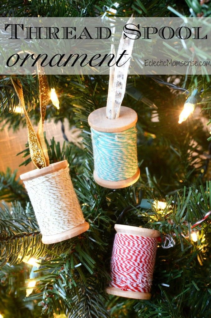 Thread Spool Ornament 45 best Christmas