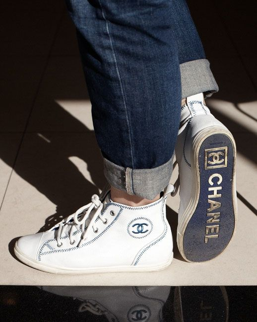 Chanel sneakers - I am drooling right now, how fabulous are these shoes