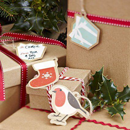 Weihnachtsgeschenk Tags / Etiketten - Vintage Noel