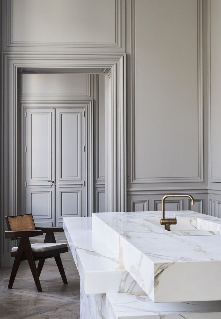 Joseph Dirand Design Is Not A Stranger To Plastolux, I Have Featured His  Work A. Neoclassical InteriorParisian ApartmentModern KitchensModern ...