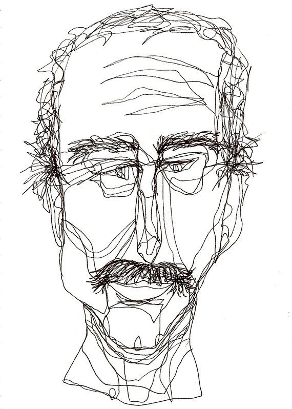 Continuous Contour Line Drawing Definition : Best continuous line portraits images on pinterest